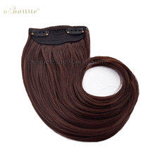 "SNOILITE Long 9"" Bangs Girls Side Bangs Fake Fringe Synthetic Clip in Hair Extensions Brown(China)"