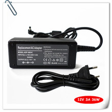 New 36W AC Adapter Charger for Asus Eee PC 900 901 1000 1000H 1000HA 1000HD 1000HE Notebook Power Supply Cord 12V 3A(China)