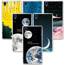 "Buy FOR SONY Xperia Z2 D6502 D6503 L50W 5.2"" Couple Phone Case Space Stars Fantasy Art Print Back Cover Sony Z2 for $1.24 in AliExpress store"