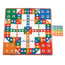 High Quality Battle Ludo Chess Flying Airplane Play Mat Kids Develop Intelligence Games 16pcs Flying Chess + Blanket + 1Pcs Dice(China)