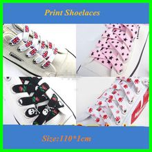 2017 New Cute Colorful Cavans Shoelaces Wide Flat Shoe Laces Polyester Printed Shoe Lacet 5 Pairs For Sale