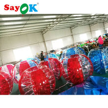 Free shipping 0.8mm PVC red inflatable human bumper ball, human sized soccer bubble ball, cheap bubble football zorbing for sale