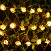 Wholesale 20 LED Rose Flower Shape Fairy String Light for Wedding Garden Party Christmas Valentine's Day Room Decoration
