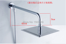High quality 304 stainless steel 10 inch bathroom shower head with arm rainfall shower head,shower arm and base set
