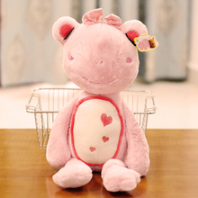 small cute plush pink frog toy new lovely frog princess doll about 55cm(China)