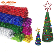 50Pcs Plush Twisted Bar Multicolor DIY Christmas Tree Ornament Children Kids Toy Xmas Home Party wedding Decorations 30cm Length