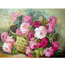 5d diy diamond painting cross stitch Flower baskets 3d drill diamond mosaic pattern diamond embroidery arts and crafts gift