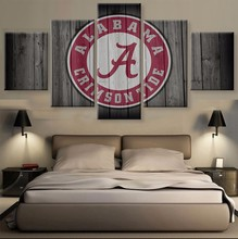 5 Panel Alabama Crimson Tide Designed Sports Print Painting On Canvas Modern Home Pictures Prints Living Room Deco Fans Posters(China)