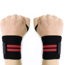 1 Pair Gym hand Wrist Belt Weightlifting Training  Bar Grip Barbell Straps Wraps Bandages Power Weight Lifting Bodybuilding