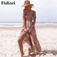 Buy Fidiori 2017 summer new lady wrapped chest printed flower dress seaside beach women causal dress. for $14.63 in AliExpress store