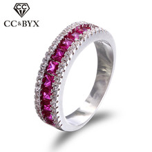 Buy Luxury Pink Rings Women Big Circle Cubic Zirconia Ring Bague Femme CC Jewelry Anel Feminino Bijoux Fashion Jewelry CC212 for $2.59 in AliExpress store