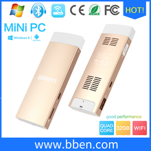BBen Mini PC Windows 10 & Android 5.1 Dual OS CPU Z8350 2G32GB Quad Core Stick Mini PC BT4.0 HDMI Intel mini pc android computer