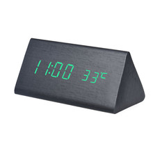 Taotown 4 Colors Temperature Display Sounds Control Electronic LED Alarm Clock Creative Freeshipping & Wholesale