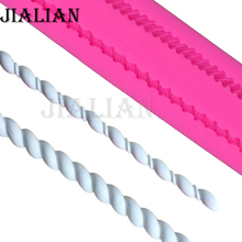 Long Rope Shape lace chocolate wedding cookies  cake decorating tools DIY baking fondant silicone mold T0154