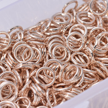 New Arrival Rose Gold Color 8mm Jump Rings Jewelry Findings Copper Rings 500pcs(China)