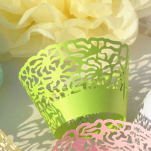 48PCS/Lot Little Vine Lace Laser Cut Cupcake Wrapper Liner Baking Cup For Home Wedding / Birthday / Christmas Party Decoration