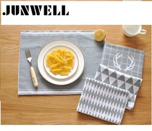 ABCD Assorted 4pcs/lot 30X40cm 100% Cotton fabric placemat European Style print Dishtowel Kitchen Towel Cleaning Cloth Tea Towel