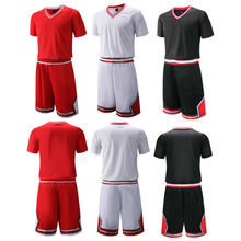 2016 New Unisex Basketball Jersey Set With Shorts Boy Sport Training Basketball Suits Reversible Big Size Can Customized(China)