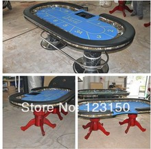 PT-003 Poker table with solid wood leg, deluxe gambling table