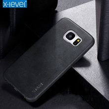 Case For Samsung Galaxy S6 Case X-Level Ultra thin PU Back case For Samsung S6 edge S6 edge plus(China)