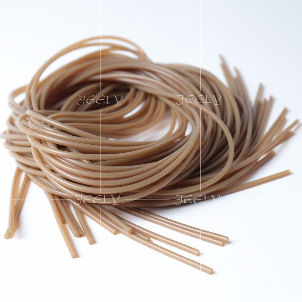 7,98 EUR//mètre carpleads Rig silicones Trans-Brown 50 cm S//M//L//XL