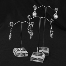 6 Pieces Metal Showcase Earrings Jewelry Display Stand Organizer Holder(China)