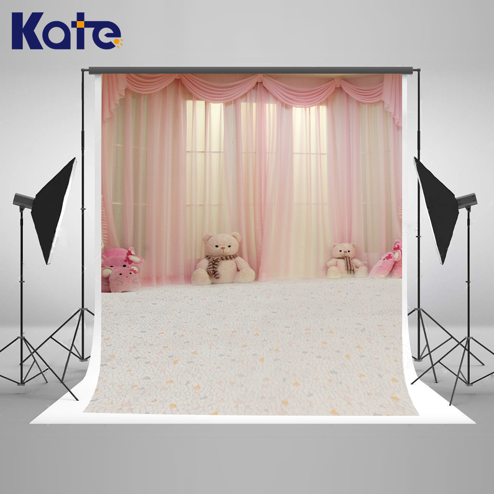 200x300m Kate Warmth Indoor Photography Backdrops Pink Curtain Window Backgrounds for Photo Studio Kids Write Floor Backdrops <br>