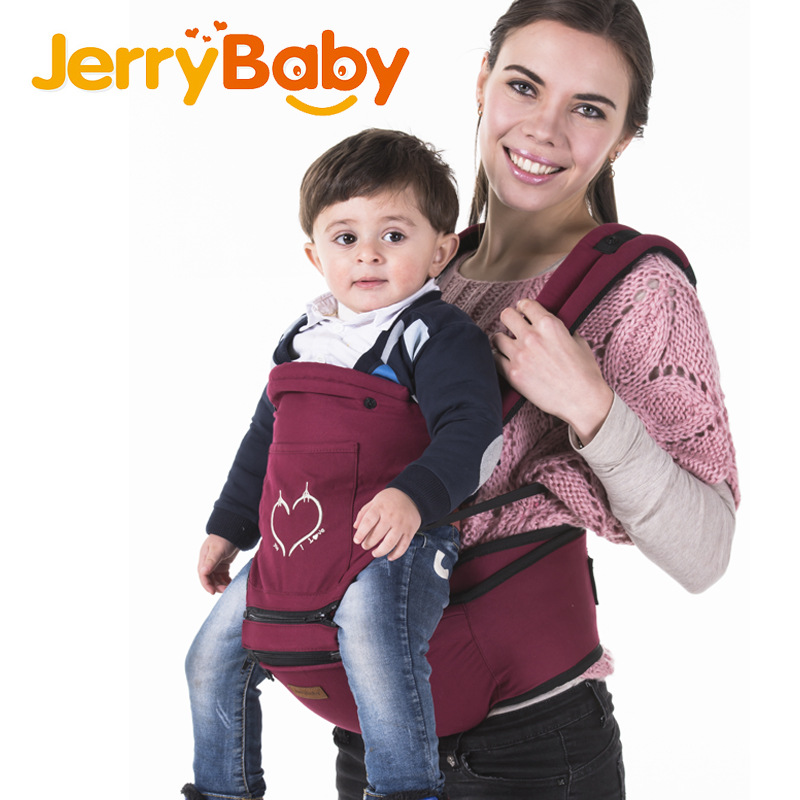 Jerrybaby Infant Carrier Multifunctional Ergonomic Kangaroos Top Quality Hipseat Adjustable Slings for Baby Carrier Babypacks<br>
