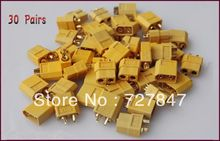 30X XT60 Connectors plugs Male/Female FOR A123 Battery