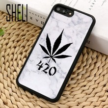 Шели Сорняк Листьев huf art design чехол для телефона чехол для iPhone 6 6S 7 8 Plus X XR XS max 5S SE samsung Galaxy S6 S7 край S8 S9 плюс(China)
