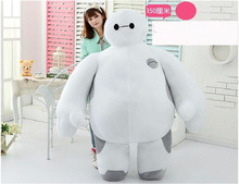 Top Item 59'' / 150cm Large Big Hero 6 Huge Stuffed Soft Plush Lovely Baymax Doll Great Gift Free Shipping(China)