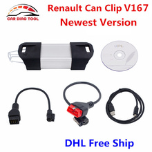 Best Price For Renault Can Clip Scanner V167 Can Clip For Renault  Auto OBD2 Diagnostic Interface With Multi-language DHL Free