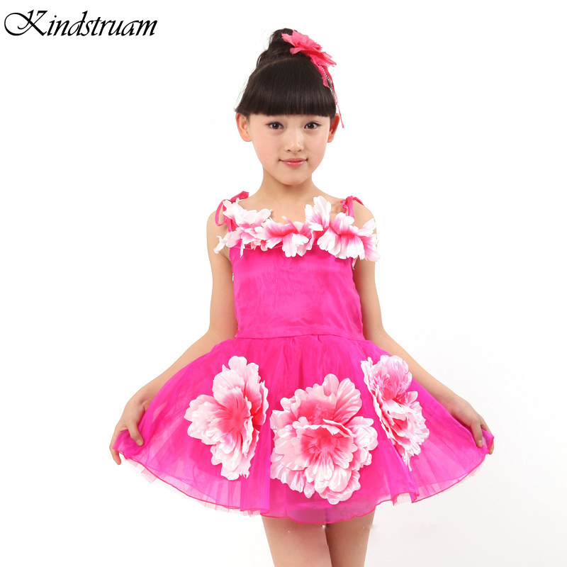 2017 New Arrival Kids Princess tutu Dresses Sleeveless Mesh Child Party Dress Girls Floral Suspender Ball Gown , LC745<br><br>Aliexpress