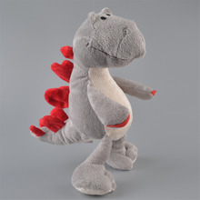 35cm Grey Stegosaurus Stuffed Plush Toy, Dinosaur Baby Kids Doll Gift Free Shipping