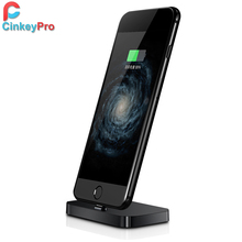 CinkeyPro USB Charger Dock for iPhone 7 6 5 Station Universal 5V 2A Charging Adapter Desktop Sync Holder Stand