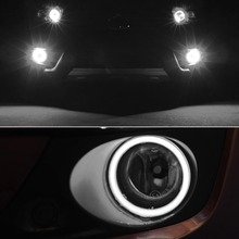 COB LED 70MM Angel Eyes Headlight Halo Ring Warning Lamps with Cover Car Styling LED Light Lamp