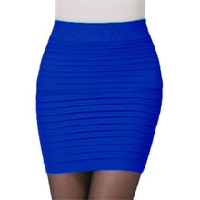 Women Cotton Color Solid Women Skater Skirts Female Autumn Basic Tube Bodycon Skirts Saia Femininas Pleated skirt mini straight