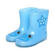 Cartoon Design Kids Rainboots 2017 Spring Style Fashion Girls Rubber Rain Boots Toddlers Waterproof Rain Shoes for Boys