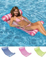 Stripe Water Hammock Lounger Pool Float Inflatable Air Mattress Swimming Pool Equipment Swimming Accessories(China)