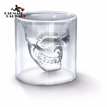 1/4/6 Pieces Skull Head Vodka Shot Glass Drinking Ware for Home Office Bar Sets 25/75/150/200Ml(China)