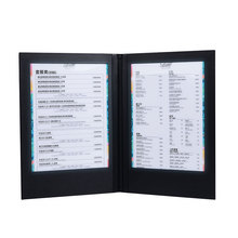 LED Restaurant Menu Covers A4 Size Cafe Menu List Folder Bar List Holder Covenience to Use Accept Customized Order