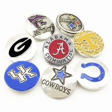 FM7160  Metal snap button  NCAA NFL Football  Georgia  STEELERS  kansas state  ALABAMA  COLTS Tennessee COWBOYS  UK DOLPHINS