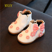 MXHY 2017 autumn and winter new children 's shoes cute flowers girl cotton boots baby snow boots girl baby cotton shoes