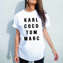 Karl Coco Tom Marc American T Shirt Women Summer Short Sleeve Cotton T-Shirt  Casual Tee Tops T Shirts Women Xxxl Plus Size