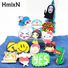 2017 hiphop Cartoon Acrylic Brooch pins No face man Clothing Backpack hello kitty Accessories Badges Decoration minnie Brooches