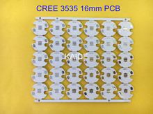 CREE 3535 aluminum plate XTE XPE2 XPG2 XPL led PCB dia16mm20mm flashlight LED circuit board(China)