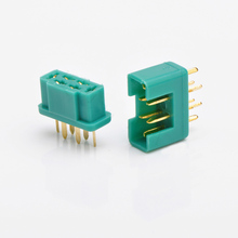Buy 10PCS/Lot MPX Terminals 24K Gold Plated Hex Plug Connector Nylon Sheathed Cover Connectors DIY RC Models Original Genuine for $9.59 in AliExpress store
