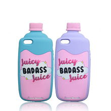 The Case For iPhone 5 5S SE Cases Soft Silicone Back Cover Lovely Juicy Badass Juice Bottle Cute  Poison Bottle