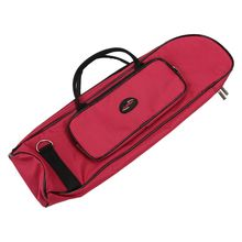 5pcs of New Brass Wind Fashionable Musical Trumpet Soft Case Canvas Gig Bag Red(China)