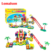 64PCS Kids Electric Building Blocks Bricks Set for Children Educational & Learning Classic Baby Toys Electric Blocks